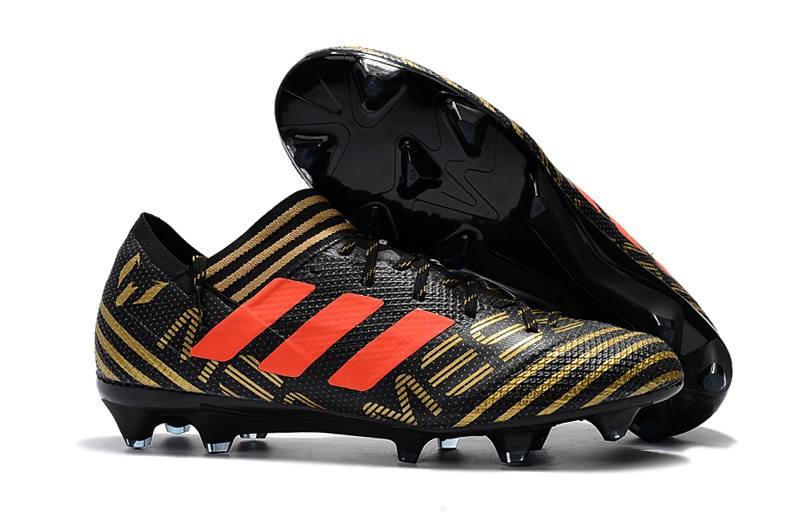 los angeles 6bd59 7907a Adidas Oro Nemeziz Messi Calcio Scarpe 17 Nero Da Nuovo FG 1 Arancione  1vwqtn6x