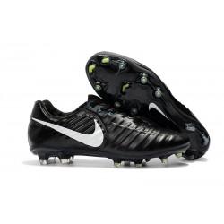 Uomo Nike Tiempo Legend 7 FG scarpe da calcio Nero Bianco