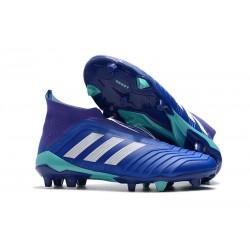 Adidas Predator 18+ FG - Tacchetti da Calcio Blu Bianco