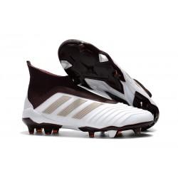 Adidas Predator 18+ FG - Tacchetti da Calcio Bianco Marrone