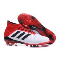 Tacchetti da Calcio Adidas Predator 18.1 FG Binaco Nero Rosso