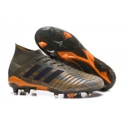 Tacchetti da Calcio Adidas Predator 18.1 FG Oliva Nero Bright Orange