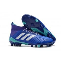 Tacchetti da Calcio Adidas Predator 18.1 FG Blu Bianco