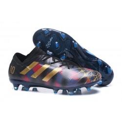 Tacchetti da Calcio Adidas Nemeziz Messi 17.1 FG Uomo Messi Nero Oro Blu
