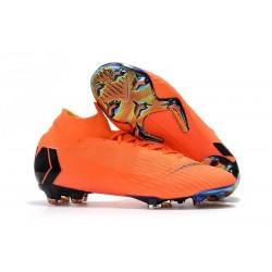 Nuovo Tacchetti da Calcio Nike Mercurial Superfly VI 360 Elite FG Arancione Nero Volt