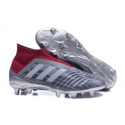 Adidas Predator 18+ FG - Tacchetti da Calcio Pogba Grigeo Rosso