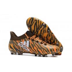 Nuovo Scarpe Da Calcio - Adidas X 17.1 FG Bright Orange Oliva