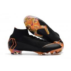 Nuovo Tacchetti da Calcio Nike Mercurial Superfly VI 360 Elite FG Nero Arancione Bianco