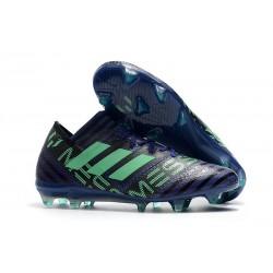 Nuovo Scarpe Da Calcio Adidas Nemeziz Messi 17.1 FG Unity Ink Verde Hi-Res Nero