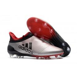 Scarpe da Calcio Adidas X 17+ Purespeed FG Uomo Argenteo Rosso Nero