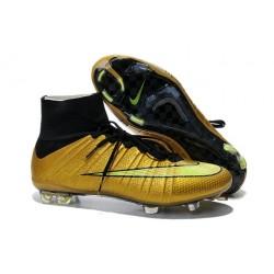 2015 Scarpe calcio Nike Mercurial Superfly FG - Uomo - Oro Volt Nero