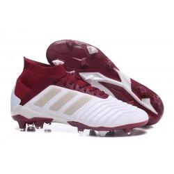 Tacchetti da Calcio Adidas Predator 18.1 FG Bianco Rosso