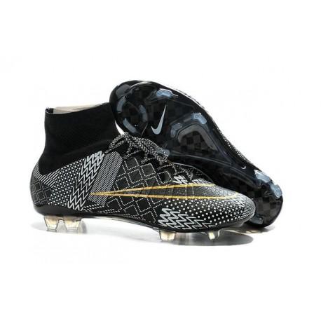 2015 Scarpe calcio Nike Mercurial Superfly FG - Uomo - BHM Black History Month Nero Bianco