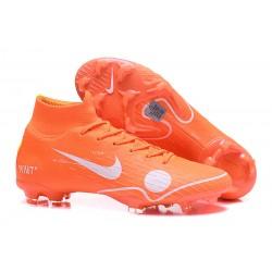 Nuovo Tacchetti da Calcio Nike Mercurial Superfly VI 360 Elite FG Off-White For Nike Arancione Bianco Blu Giallo