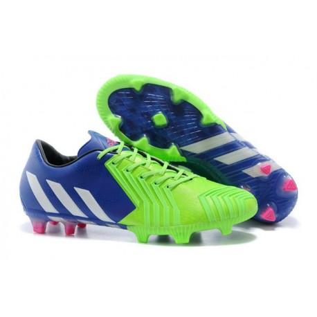 Predator LZ TRX FG - Adidas Scarpe da calcio Uomo - Blu Intenso Bianco Verde Solare