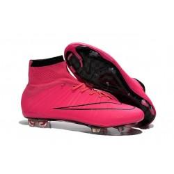 2015 Scarpe calcio Nike Mercurial Superfly FG - Uomo - Rosa Nero