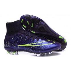 Scarpa da calcio per terreni duri Nike Mercurial Superfly - Viola Verde Nero