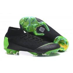 Nuovo Scarpe da Calcio Nike Mercurial Superfly VI 360 Elite FG Nero Verde