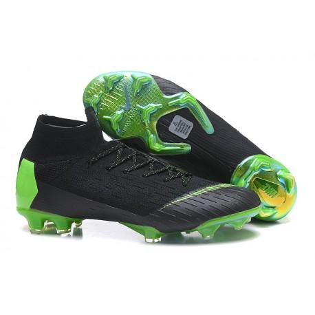 Nuovo Tacchetti da Calcio Nike Mercurial Superfly VI 360 Elite FG Argento Verde