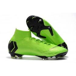 Nuovo Scarpa da Calcio Nike Mercurial Superfly VI 360 Elite FG CR7 - Verde Nero