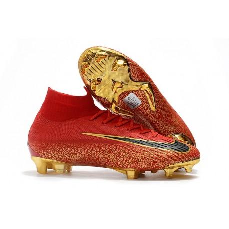 premium selection cfb79 19b95 Scarpe da Calcio Alte Nike Mercurial Superfly VI 360 Elite FG CR7 - Blu Oro  Bianco