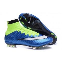 Scarpa da calcio per terreni duri Nike Mercurial Superfly - Blu Verde Nero Bianco