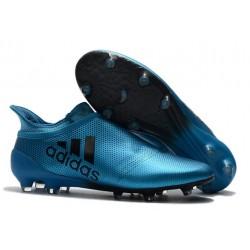 2016 Scarpette da Calcio Adidas X 16+ Purechaos FG - Blu Argenteo