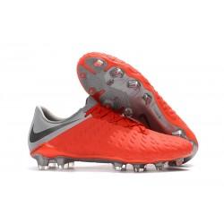 Scarpe da Calcio Nike Hypervenom Phantom 3 FG - Uomo Rossa Grigio