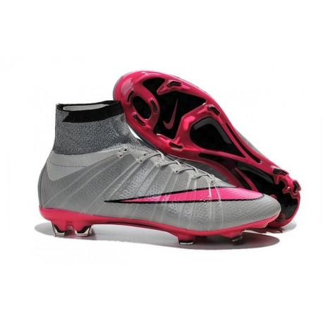 Scarpa da calcio per terreni duri Nike Mercurial Superfly - Grigio Rosa Nero