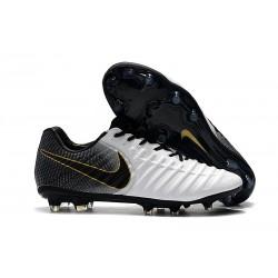 Uomo Nike Tiempo Legend 7 FG scarpe da calcio Oro Nero Bianco