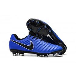 Scarpe da calcio Nike Tiempo Legend VII FG per Uomo Blu Nero