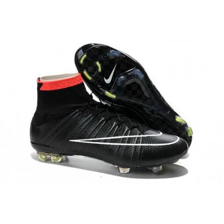 Nuove Scarpe calcio Nike Mercurial Superfly FG - Nero Bianco Punch Volt