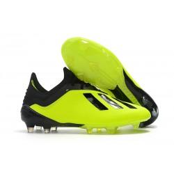 Nuovo Scarpe Da Calcio adidas X 18.1 FG Nero Giallo