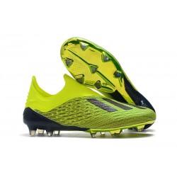 Nuovo Scarpe Da Calcio adidas X 18+ FG Giallo Nero