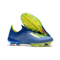Tacchetti da Calcio adidas X 18+ FG Blu Giallo Oro