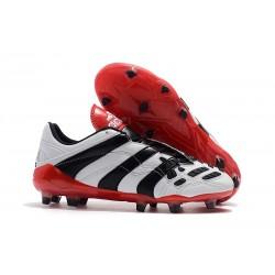 Tacchetti da Calcio Adidas Predator Accelerator Electricity FG Bianco Nero Rosso