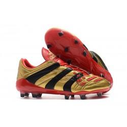 Tacchetti da Calcio Adidas Predator Accelerator Electricity FG Oro Rosso Nero