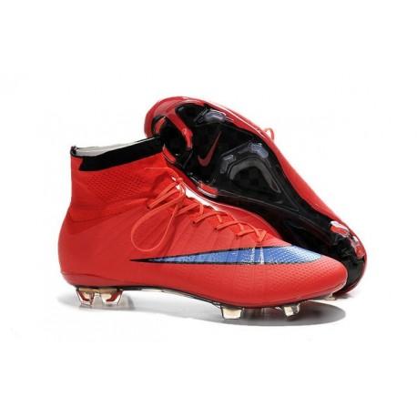 Nuove Scarpe calcio Nike Mercurial Superfly FG - Rosso Viola Nero