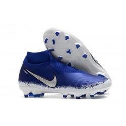 Tacchetti da Calcio Nike Phantom VSN Elite DF FG Blu Argento