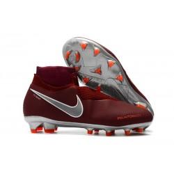 Scarpe Per Gli Uomini Nike Phantom Vision Elite DF FG Vino Rosso