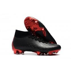 Nuovo Tacchetti da Calcio Nike Mercurial Superfly VI 360 Elite FG Nike x Jordan Nero Rosso