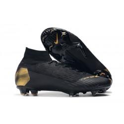 Nuovo Tacchetti da Calcio Nike Mercurial Superfly VI 360 Elite FG Oro Nero