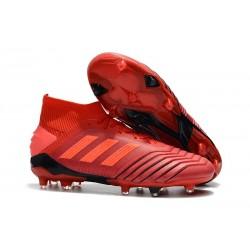 Scarpe Da Calcio adidas Predator 19.1 FG Rosso Rosso Solare Nero