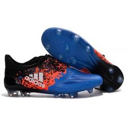 Scarpe Calcio Adidas X 16+ Purechaos FG - Blu Nero Rosso Bianco