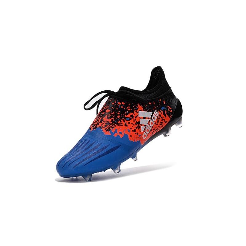 Scarpe Calcio Adidas X 16+ Purechaos FG Blu Nero Rosso Bianco