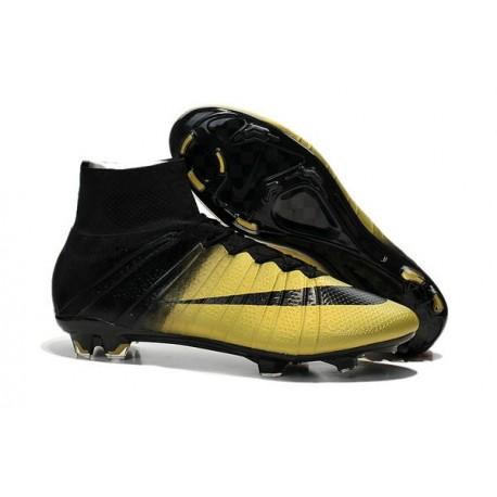 2015 Scarpa da calcio per terreni duri Nike Mercurial Superfly - Uomo CR7 Bronzy Nero