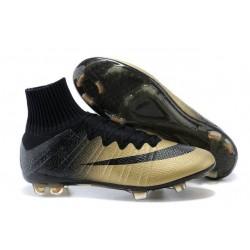 2015 Scarpa da calcio per terreni duri Nike Mercurial Superfly - Uomo Oro Nero