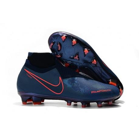 Scarpe Per Gli Uomini Nike Phantom Vision Elite DF FG Blu Rosso