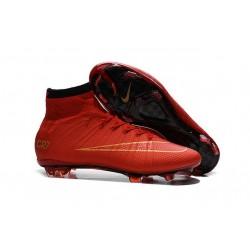 2015 Scarpa da calcio per terreni duri Nike Mercurial Superfly - Uomo Rosso Nero