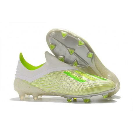 Nuovo Scarpe Da Calcio adidas X 18+ FG Bianco Verde